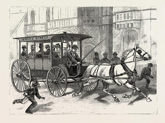 Pennsylvania: the New Herdic Coaches Just Introduced into Philadelphia. U.S., 1880 1881--Giclee Print