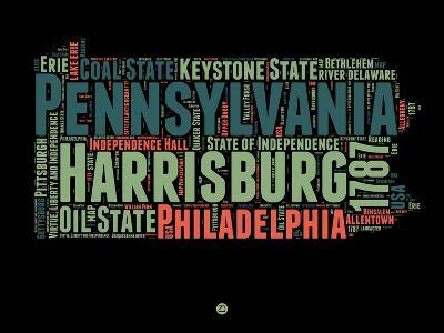 Pennsylvania Word Cloud 1-NaxArt-Art Print