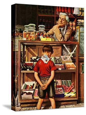 """Penny Candy,"" September 23, 1944-Stevan Dohanos-Stretched Canvas Print"