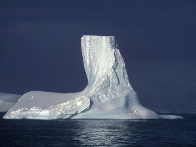 Penola Strait, Pleneau Island, Columnar Iceberg in Evening Light, Antarctica-Allan White-Photographic Print
