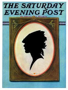 """""""A Silhouette,"""" Saturday Evening Post Cover, May 11, 1929 by Penrhyn Stanlaws"""