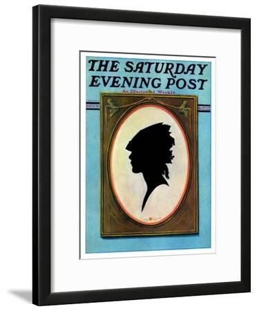 """""""A Silhouette,"""" Saturday Evening Post Cover, May 11, 1929"""