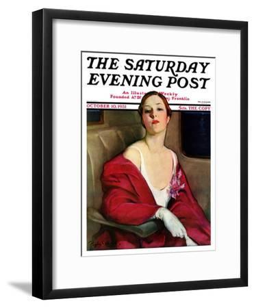 """""""An Evening Out,"""" Saturday Evening Post Cover, October 10, 1931"""