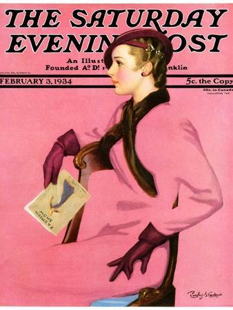 """At the Fashion Show,"" Saturday Evening Post Cover, February 3, 1934"