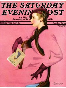 """""""At the Fashion Show,"""" Saturday Evening Post Cover, February 3, 1934 by Penrhyn Stanlaws"""