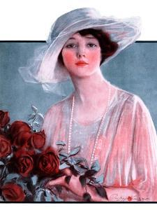 """""""Bouquet of Roses,""""May 24, 1924 by Penrhyn Stanlaws"""
