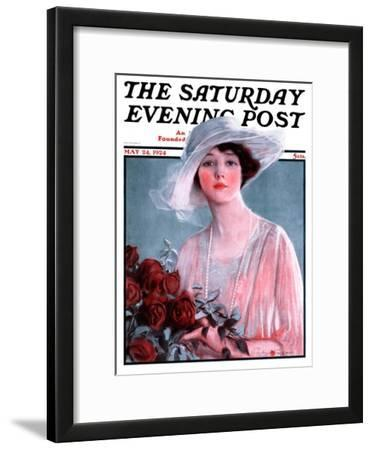 """""""Bouquet of Roses,"""" Saturday Evening Post Cover, May 24, 1924"""