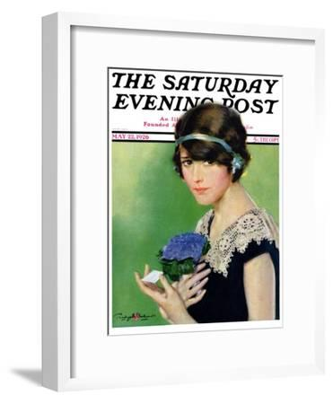 """""""Purple Posey,"""" Saturday Evening Post Cover, May 22, 1926"""