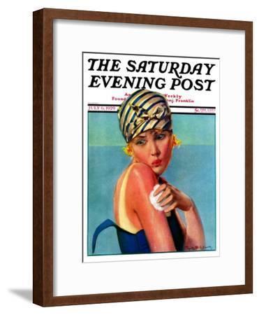 """Sunburned Sunbather,"" Saturday Evening Post Cover, July 6, 1929"