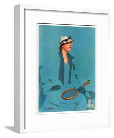"""Tennis in Blue,""June 16, 1934"