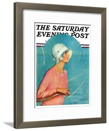 """""""Woman at the Rudder,"""" Saturday Evening Post Cover, August 17, 1929"""