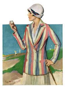 """""""Woman in Sandtrap,""""June 9, 1928 by Penrhyn Stanlaws"""