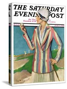"""Woman in Sandtrap,"" Saturday Evening Post Cover, June 9, 1928 by Penrhyn Stanlaws"