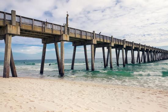 Pensacola Beach Fishing Pier Florida Photographic Print By Forestpath Art