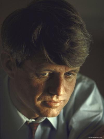 Pensive Portrait of Presidential Contender Bobby Kennedy During Campaign-Bill Eppridge-Photographic Print
