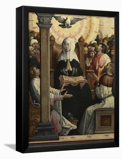 Pentecost-Juan de Flandes-Framed Stretched Canvas Print