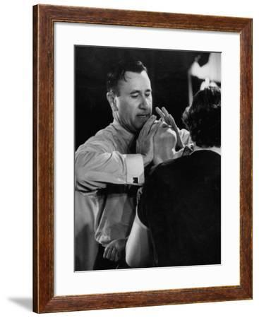 Pentecostal Evangelist Oral Roberts Practicing Faith Healing on Sick Child in Tent-Carl Mydans-Framed Premium Photographic Print
