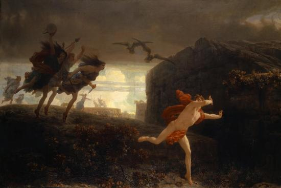 Pentheus Pursued By The Maenads 1864 Giclee Print By Charles Gleyre