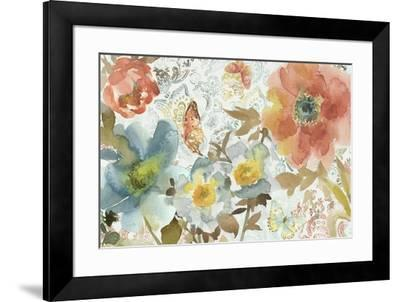 Peonies And Butterfly-Marietta Cohen Art and Design-Framed Giclee Print