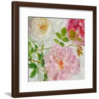 Peonies and Roses I-Cora Niele-Framed Giclee Print
