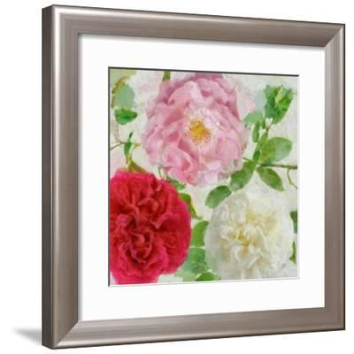 Peonies and Roses III-Cora Niele-Framed Giclee Print