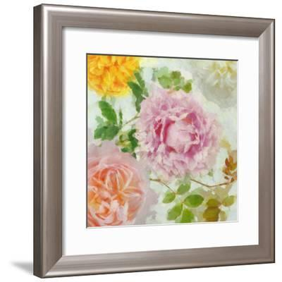 Peonies and Roses IV-Cora Niele-Framed Giclee Print