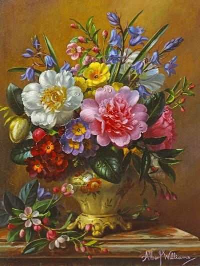 Peonies, Bluebells and Primulas-Albert Williams-Giclee Print