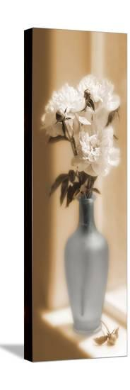 Peonies In A Blue Vase-Christine Zalewski-Stretched Canvas Print