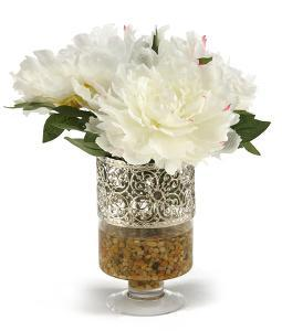 Peonies in Filigree Urn