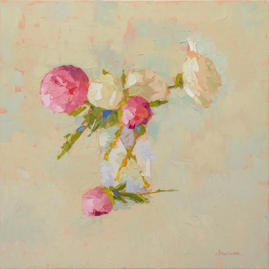 Peonies in Glass No. 2-Carol Maguire-Art Print