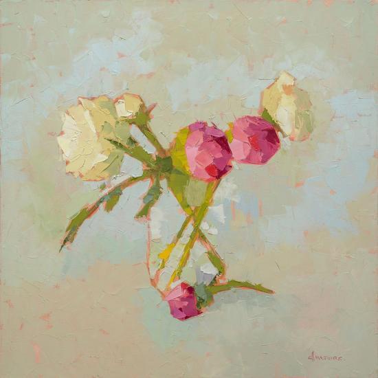 Peonies in Glass-Carol Maguire-Art Print
