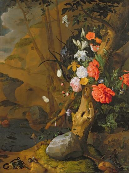 Peonies, Roses, Lilies, Poppies and Other Flowers-Rachel Ruysch-Giclee Print