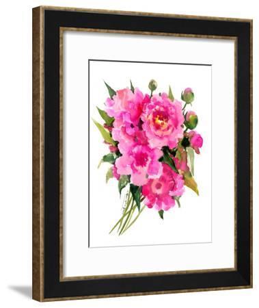 Peonies-Suren Nersisyan-Framed Art Print