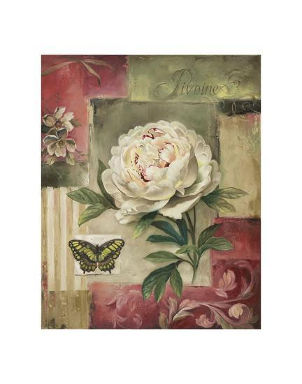 Peony and Butterfly-Lisa Audit-Art Print