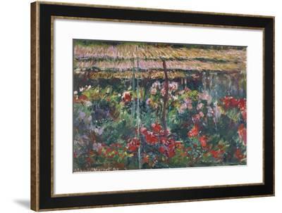 Peony Garden, 1887-Claude Monet-Framed Giclee Print