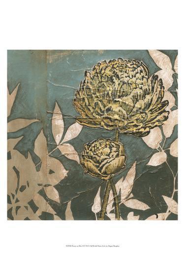 Peony on Blue II-Megan Meagher-Art Print