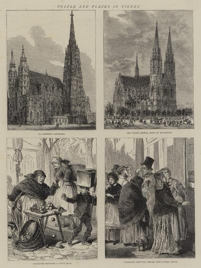 People and Places in Vienna-Henry William Brewer-Giclee Print