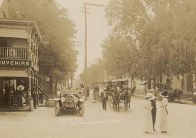 People and Traffic in Cairo, Catskill Mountains, New York State