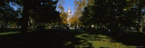 People at a University Campus, University of Notre Dame, South Bend, Indiana, USA