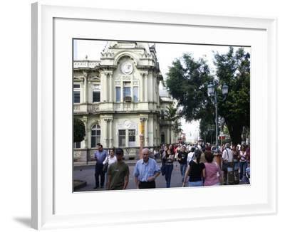 People by the Old Post Office, San Jose, Costa Rica, Central America-Levy Yadid-Framed Photographic Print