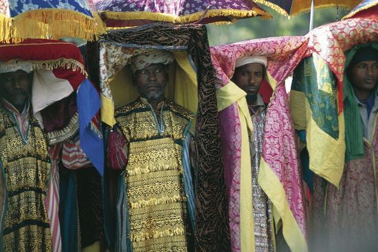People Celebrating Timkat--Photographic Print