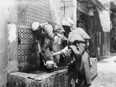 People Collecting Water from a Well, Rabat, Morocco, C1920S-C1930S--Giclee Print