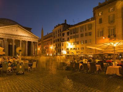 People Dining at Outside Restaurant Near the Pantheon, Rome, Lazio, Italy, Europe-Angelo Cavalli-Photographic Print