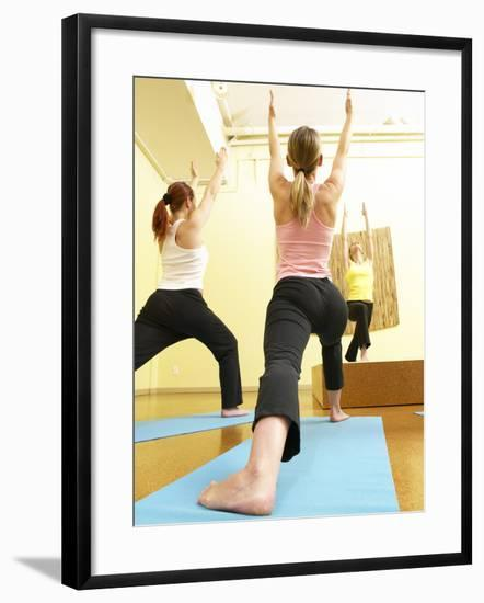 People Doing Yoga--Framed Photographic Print