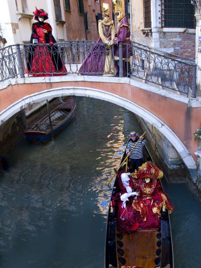 People Dressed in Costumes For the Annual Carnival Festival, Venice, Italy-Jim Zuckerman-Photographic Print