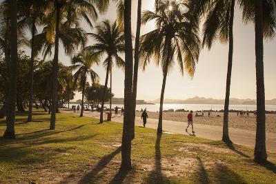 People, Flamengo Beach, Rio De Janeiro, Brazil, South America-Ian Trower-Photographic Print