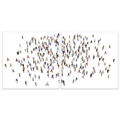 People - Free Floating Tempered Glass Panel Graphic Wall Art