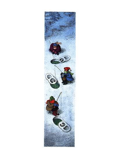 People ice fishing. - New Yorker Cartoon-John O'brien-Premium Giclee Print