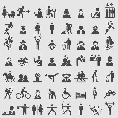 People Icons-ekler-Art Print
