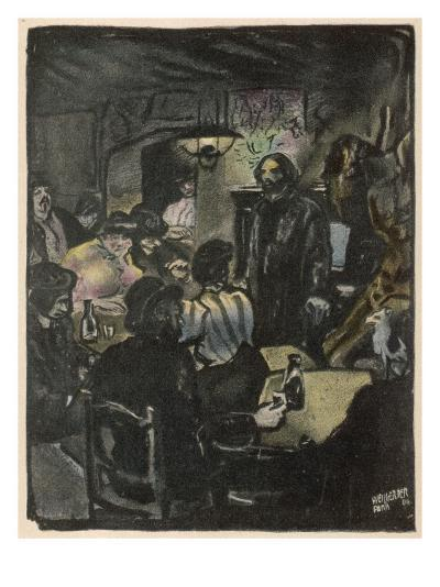 People in a Bohemian Cafe, Le Lapin Agile, Paris--Giclee Print